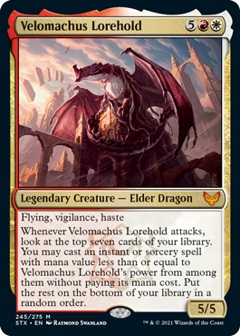 Velomachus Lorehold MtG Card. Image: Wizards of the Coast.