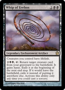 Whip of Erebos MtG card. Image: Wizards of the Coast.