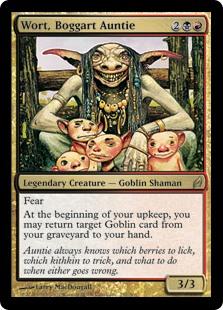 Wort, Boggart Auntie MtG card. Image: Wizards of the Coast.