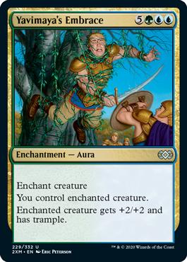 Yavimaya's Embrace MtG card. Image: Wizards of the Coast.