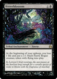 Bitterblossom MtG card. Image: Wizards of the Coast.