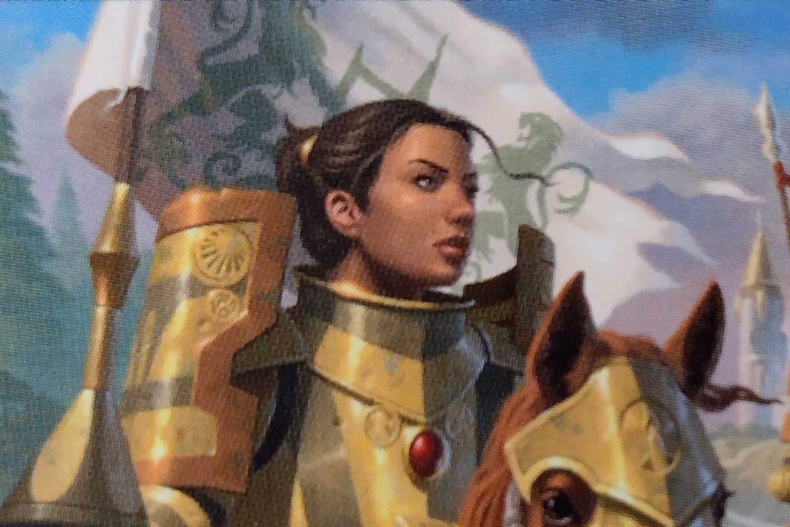 Gallant Cavalry MtG card. Image: Wizards of the Coast. Artist: Craig Spearing.