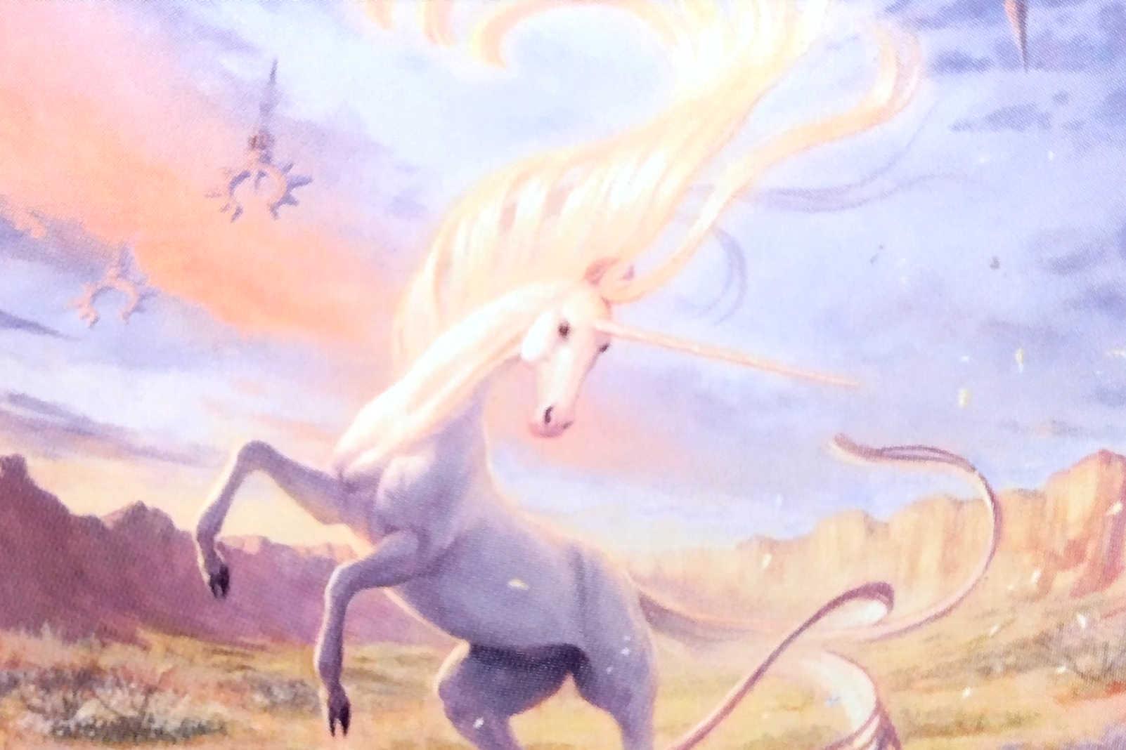 Mesa Unicorn MtG card. Image: Wizards of the Coast. Artist: Winona Nelson.
