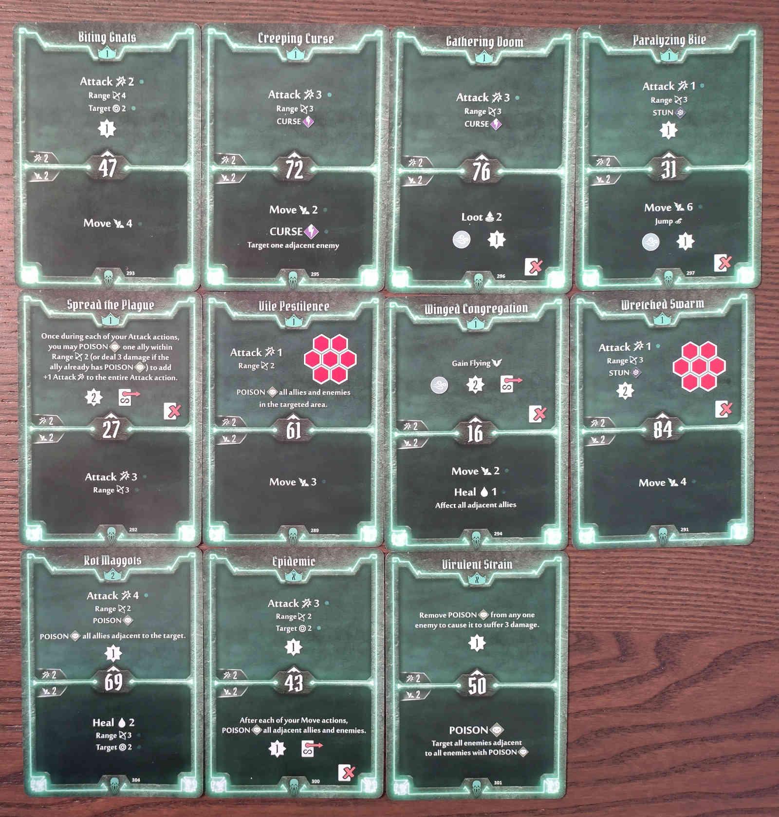 Gloomhaven Plagueherald Poison Curse Hybrid Build Level 2 cards