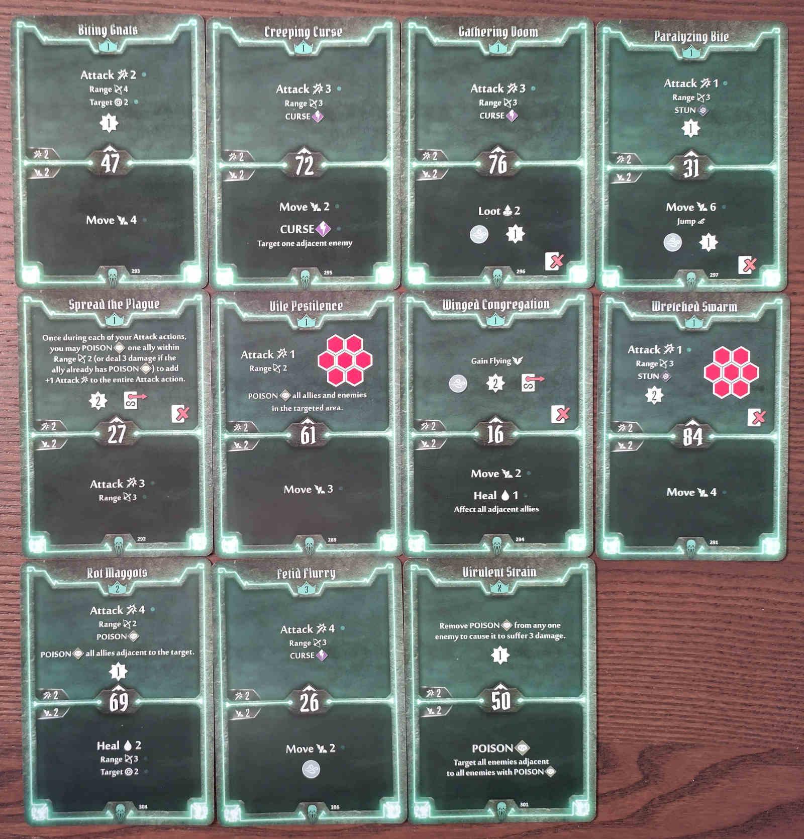 Gloomhaven Plagueherald Poison Curse Hybrid Build Level 3 cards