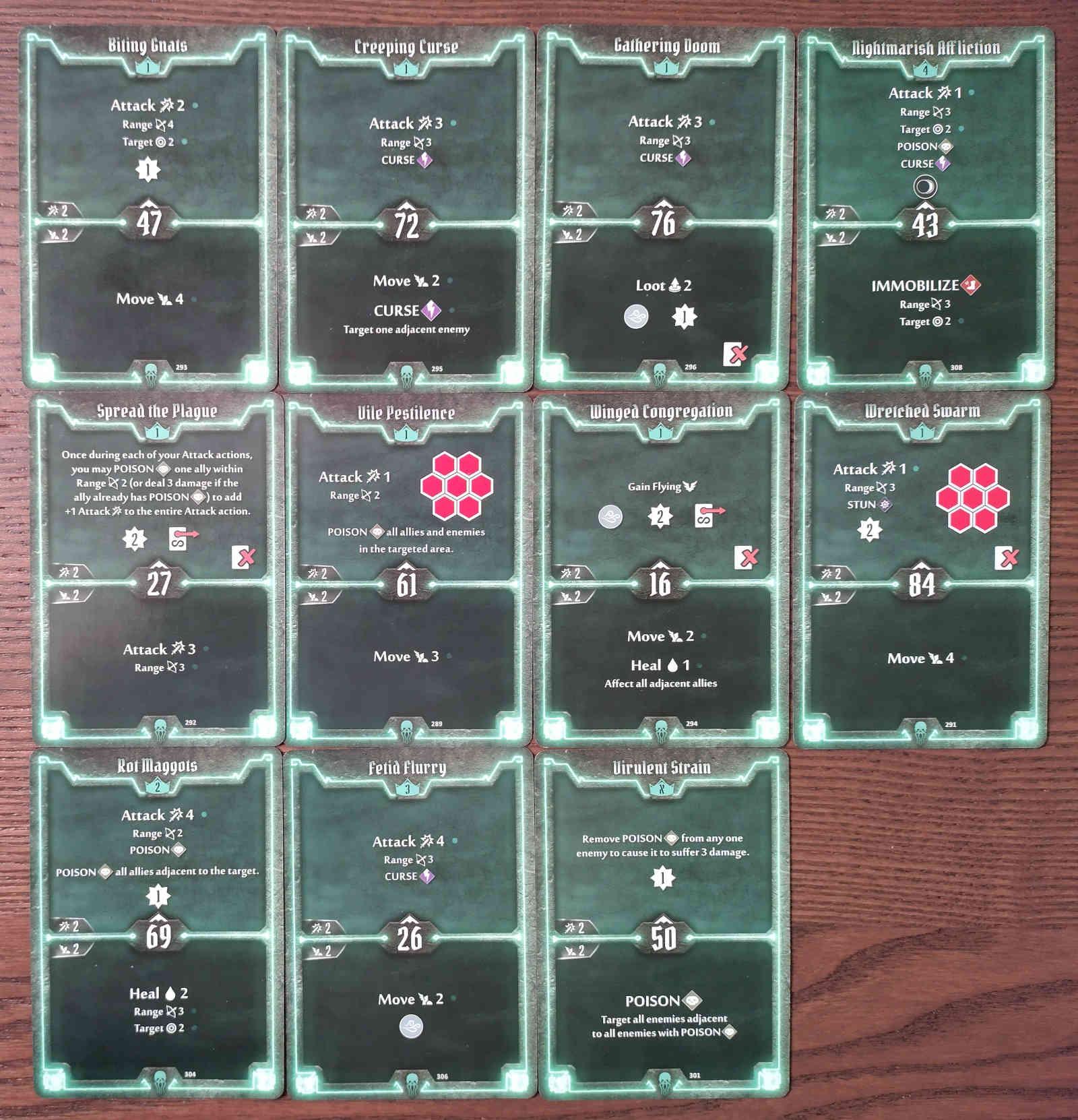 Gloomhaven Plagueherald Poison Curse Hybrid Build Level 4 cards