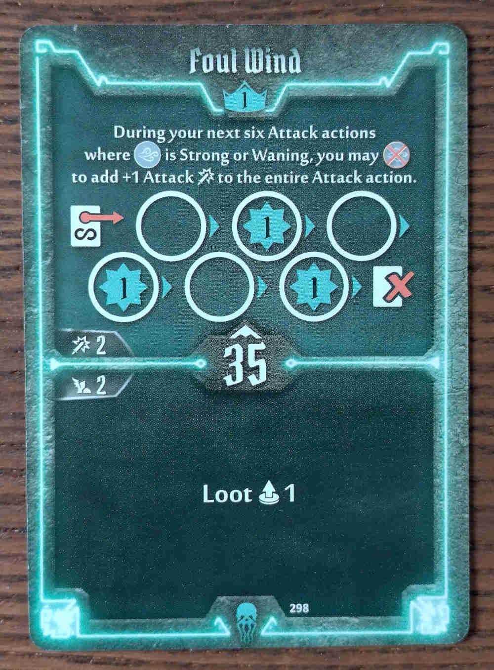 Level 1 Plagueherald card Foul Wind