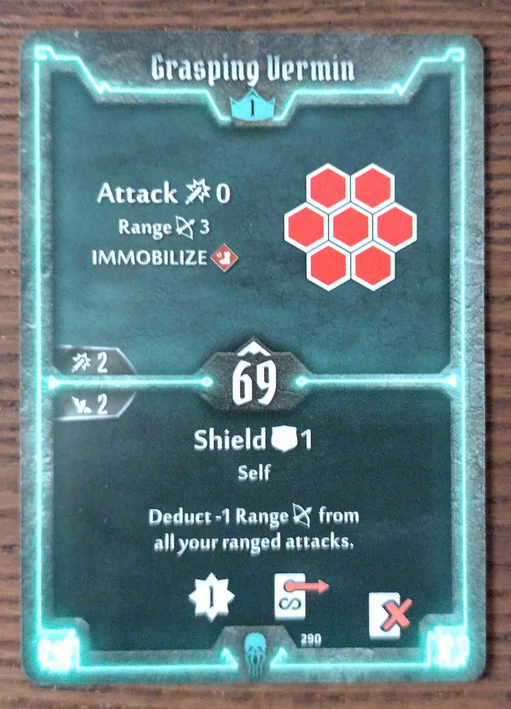 Level 1 Plagueherald card Grasping Vermin