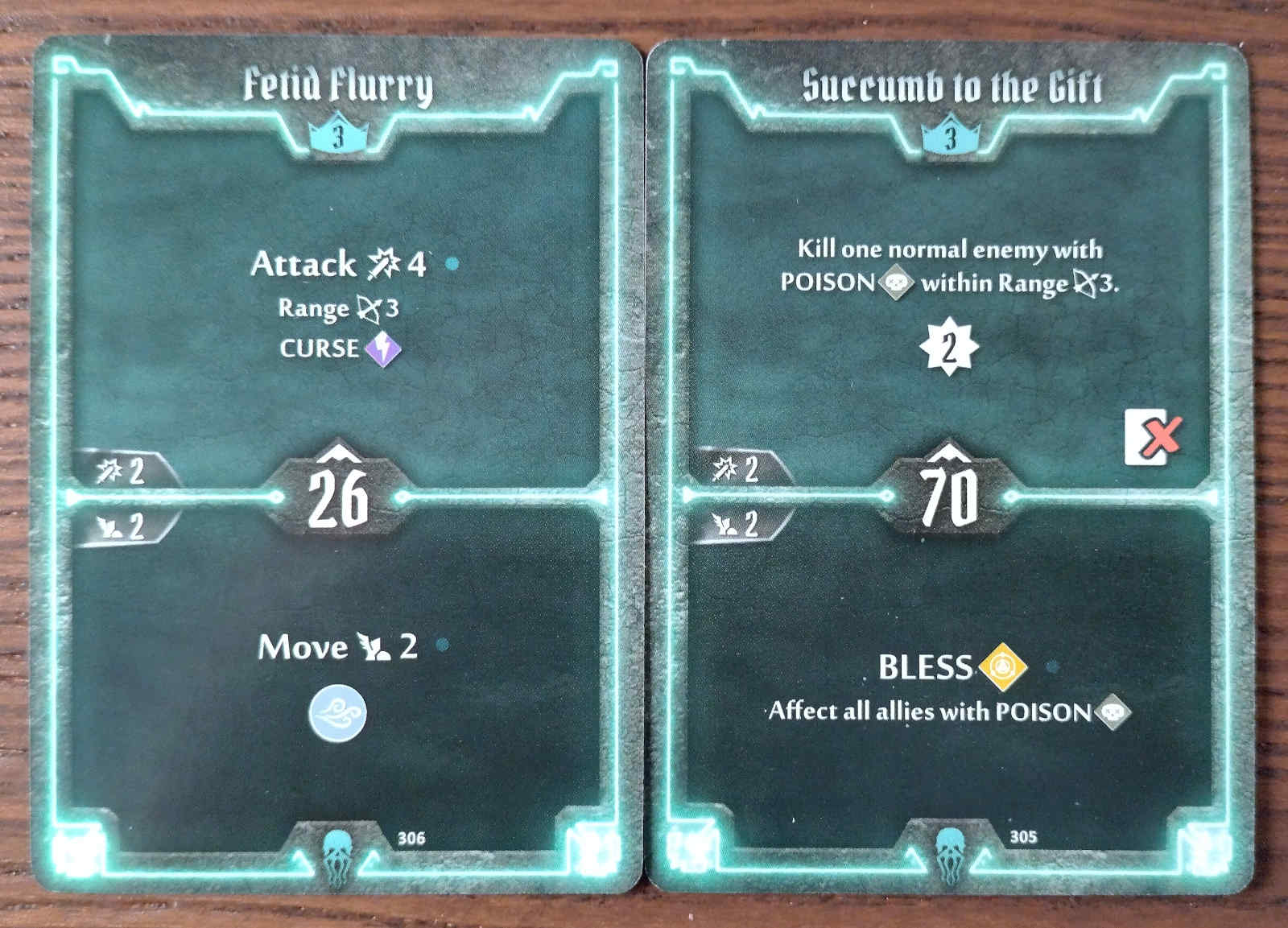 Level 3 Plagueherald cards - Fetid Flurry and Succumb to the Gift
