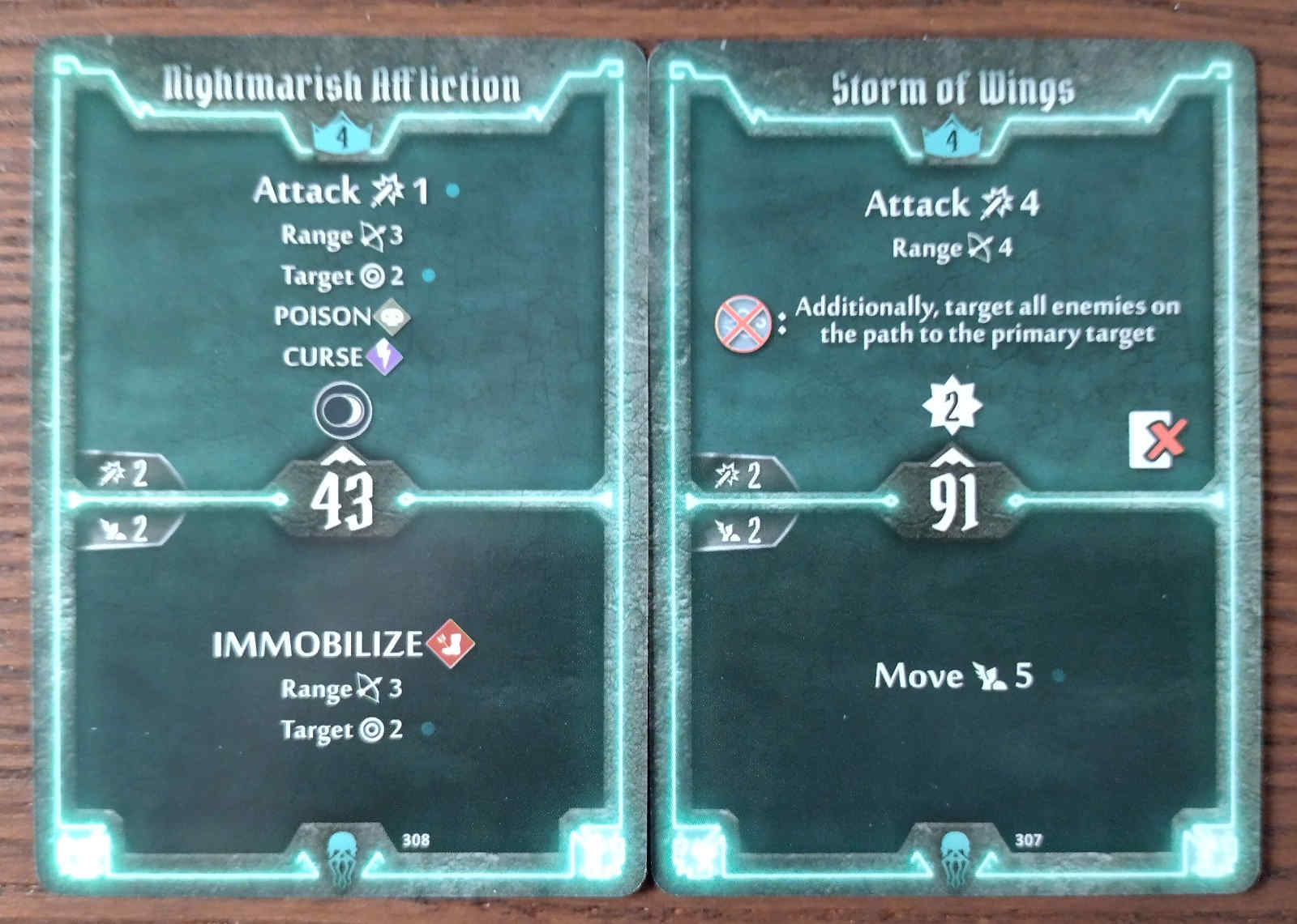 Level 4 Plagueherald cards - Nightmarish Affliction and Storm of Wings