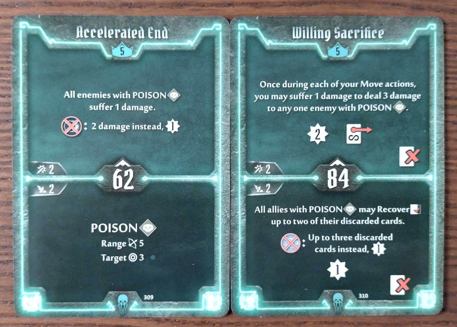 Level 5 Plagueherald cards - Accelerated End and Willing Sacrifice