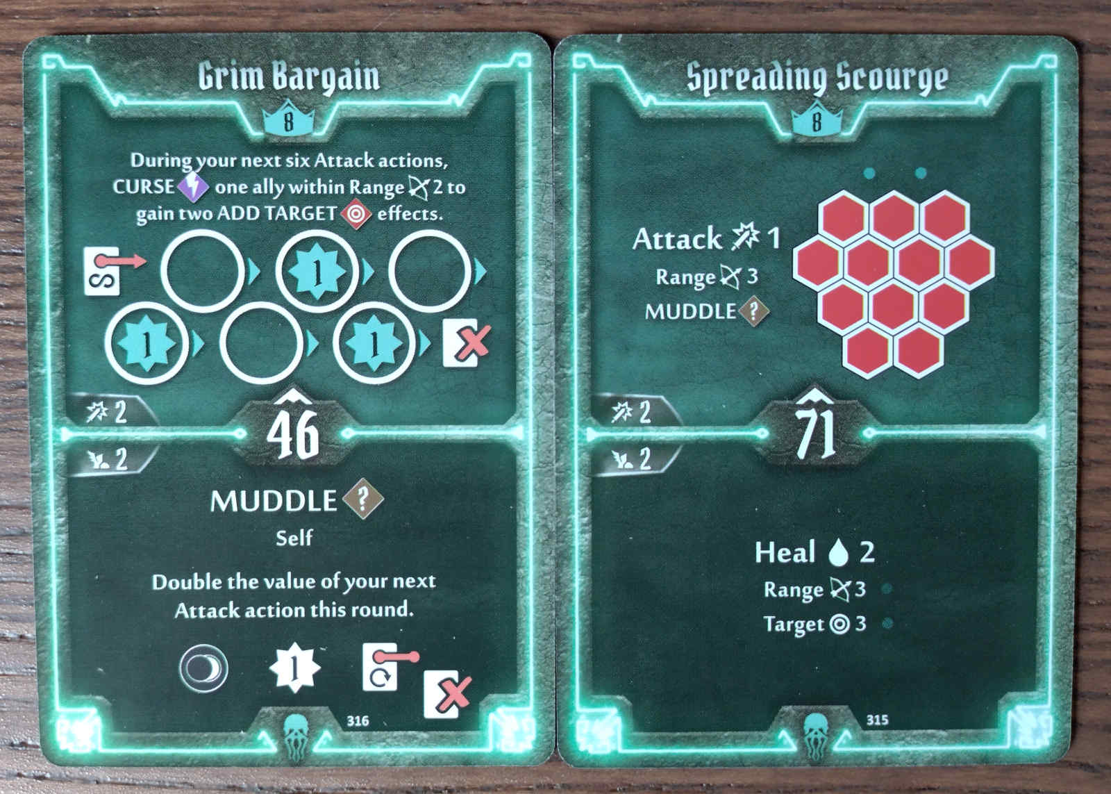 Level 8 Plagueherald cards - Grim Bargain and Spreading Scourge