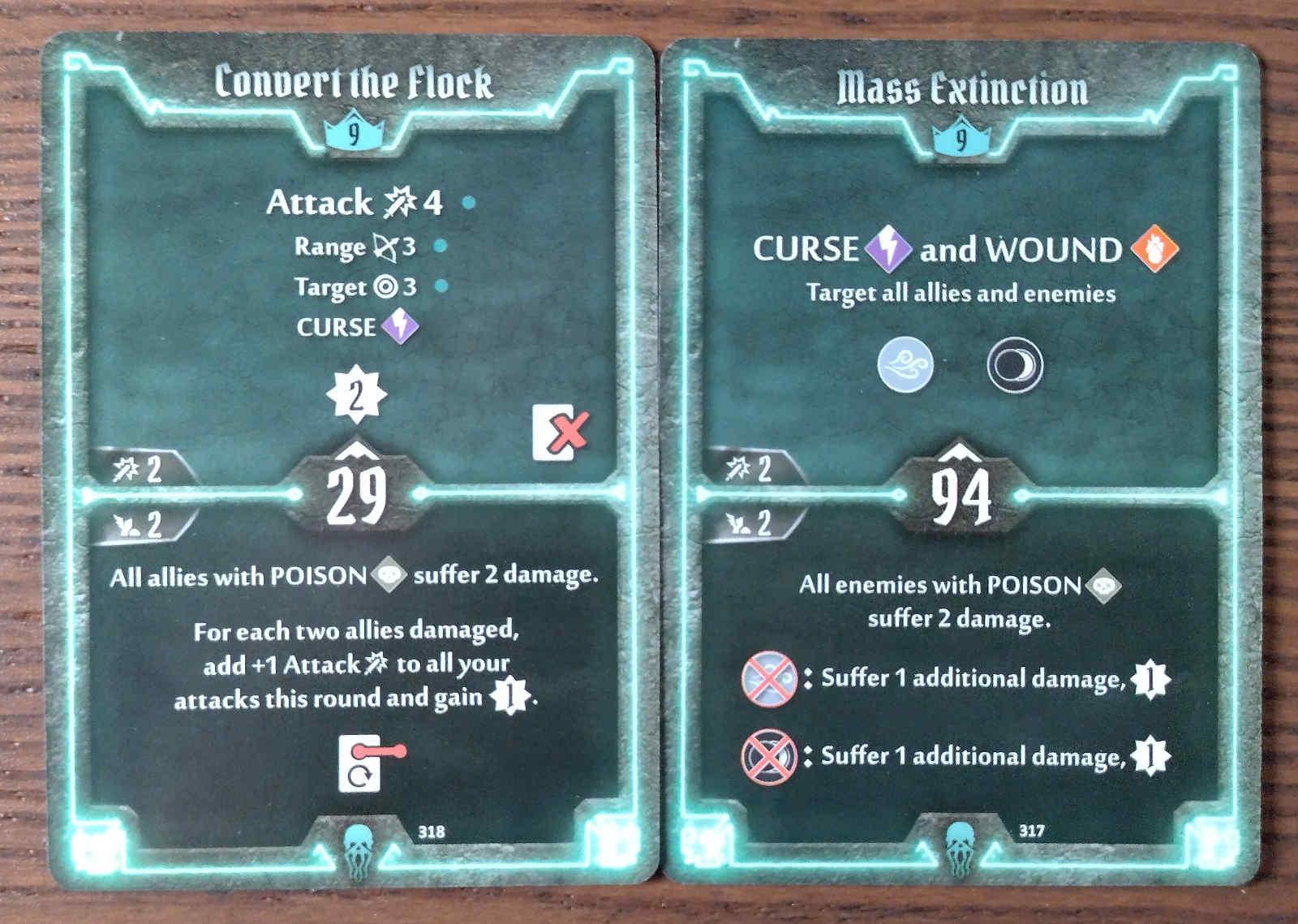 Level 9 Plagueherald cards - Convert the Flock and Mass Extinction