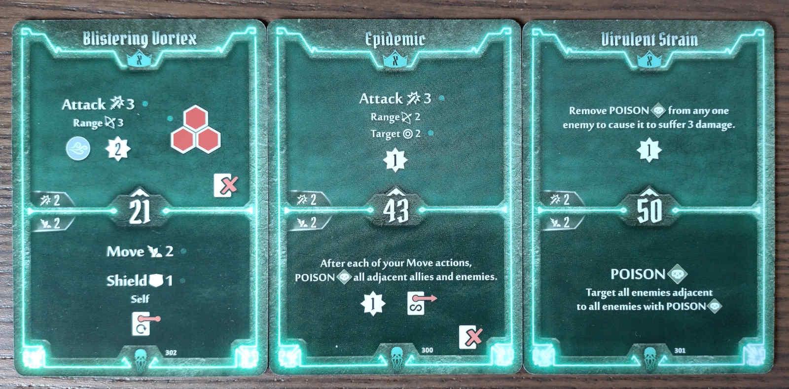 Plagueherald level X cards - Blistering Vortex, Epidemic, Virulent Strain