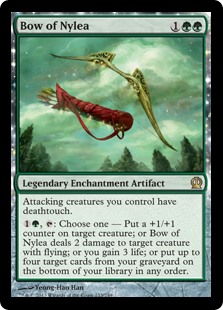 Bow of Nylea MtG card. Image: Wizards of the Coast.