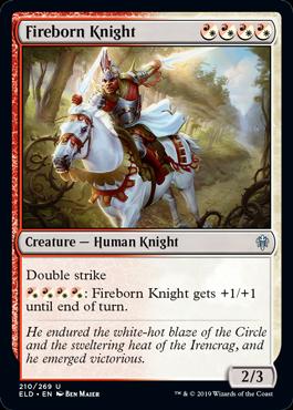 Fireborn Knight MTG card. Image: Wizards of the Coast.