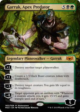 Garruk, Apex Predator MtG card. Image: Wizards of the Coast.