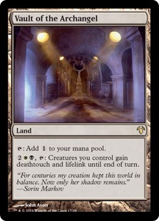 Vault of the Archangel MtG card. Image: Wizards of the Coast.