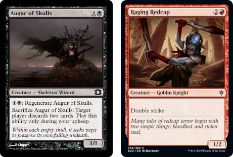 Augur of Skulls and Raging Redcap MTG cards. Image: Wizards of the Coast.