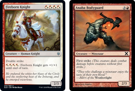 Fireborn Knight and Anaba Bodyguard MTG Cards. Image: Wizards of the Coast.