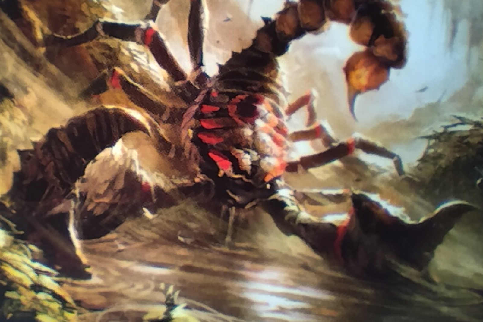 Giant Scorpion MtG card with deathtouch
