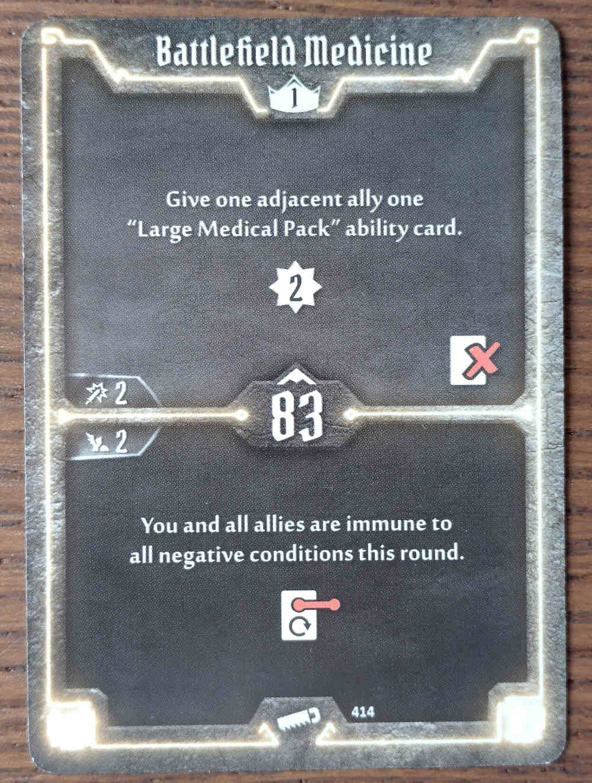 Level 1 Sawbones card Battlefield Medicine