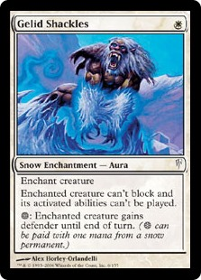 MTG card Gelid Shackles. Image: Wizards of the Coast