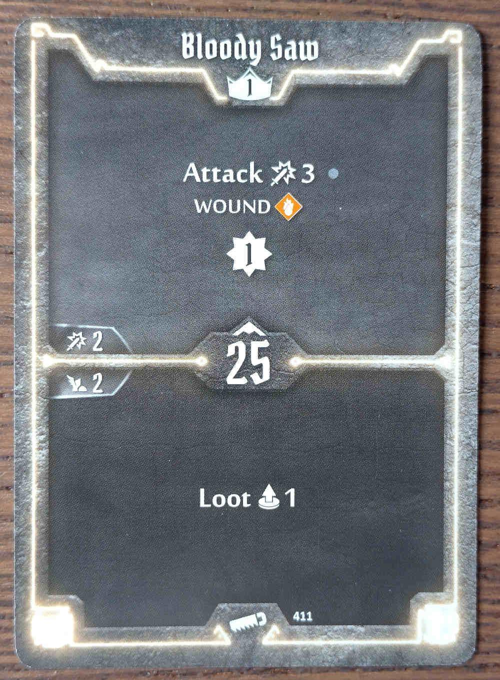 Level 1 Sawbones card Bloody Saw