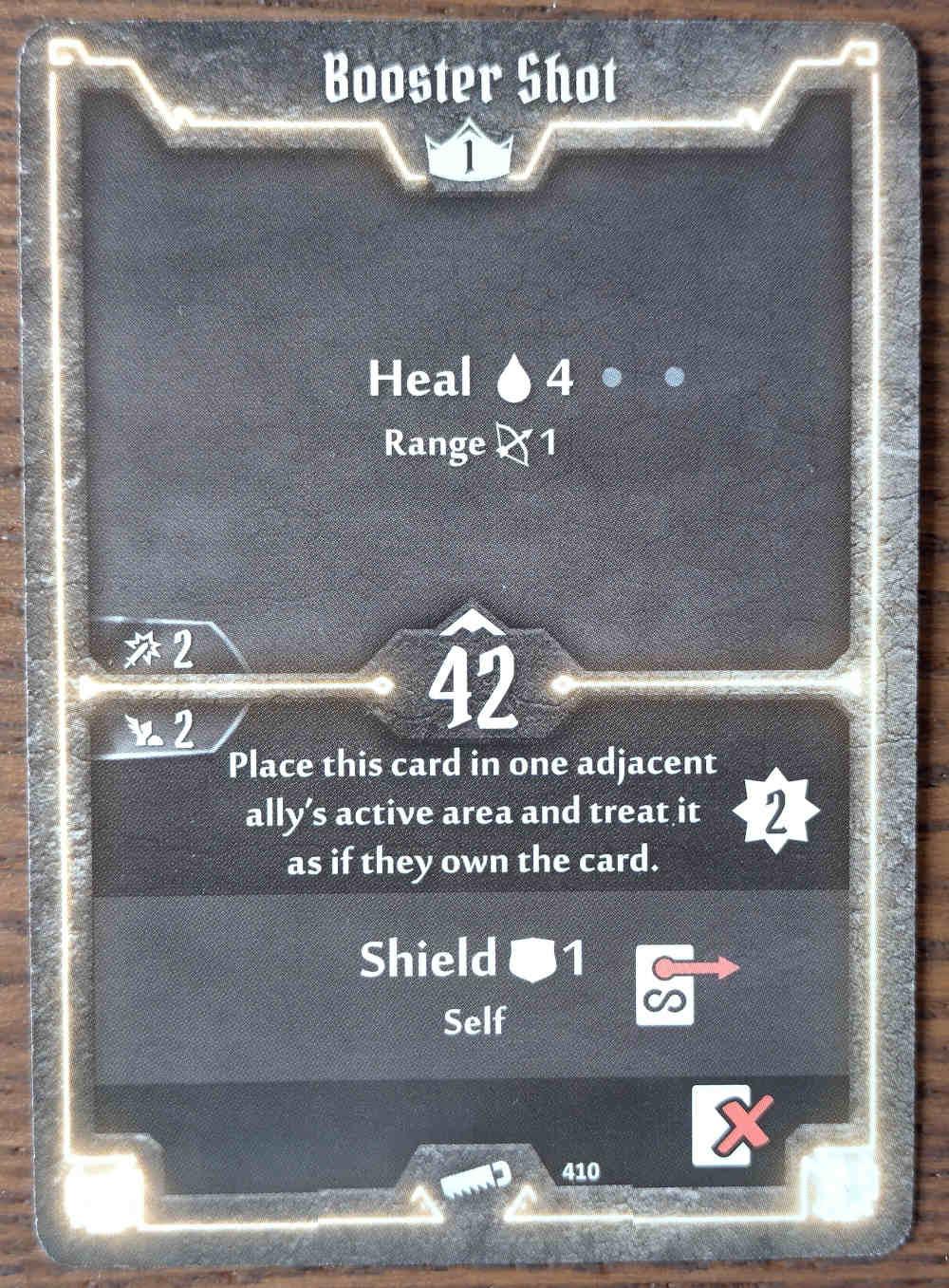 Level 1 Sawbones card Booster Shot