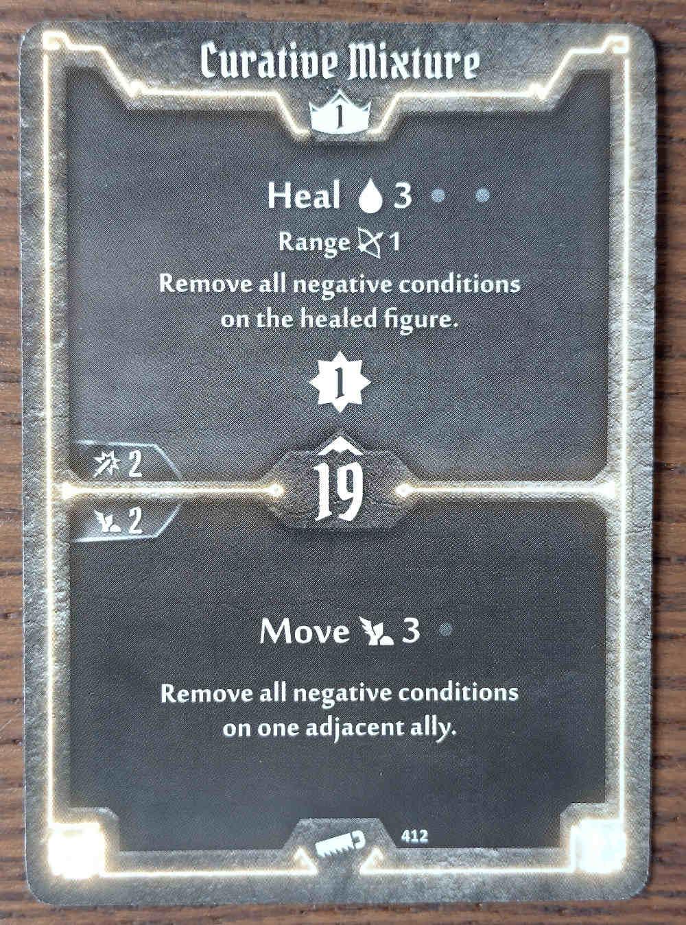Level 1 Sawbones card Curative Mixture