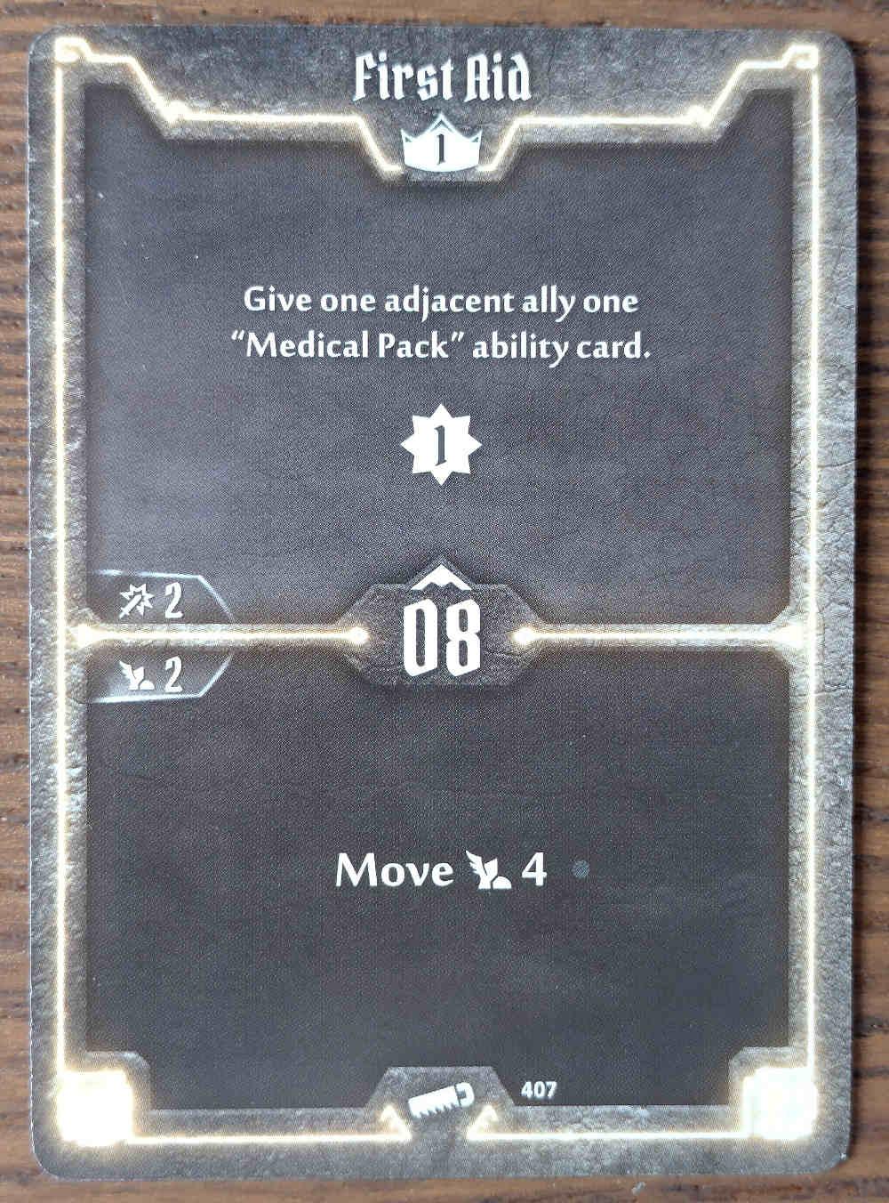 Level 1 Sawbones card First Aid