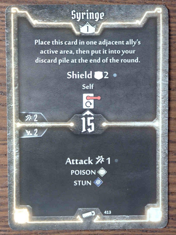 Level 1 Sawbones card Syringe