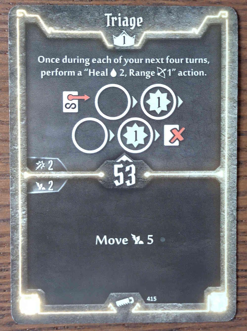 Level 1 Sawbones card Triage