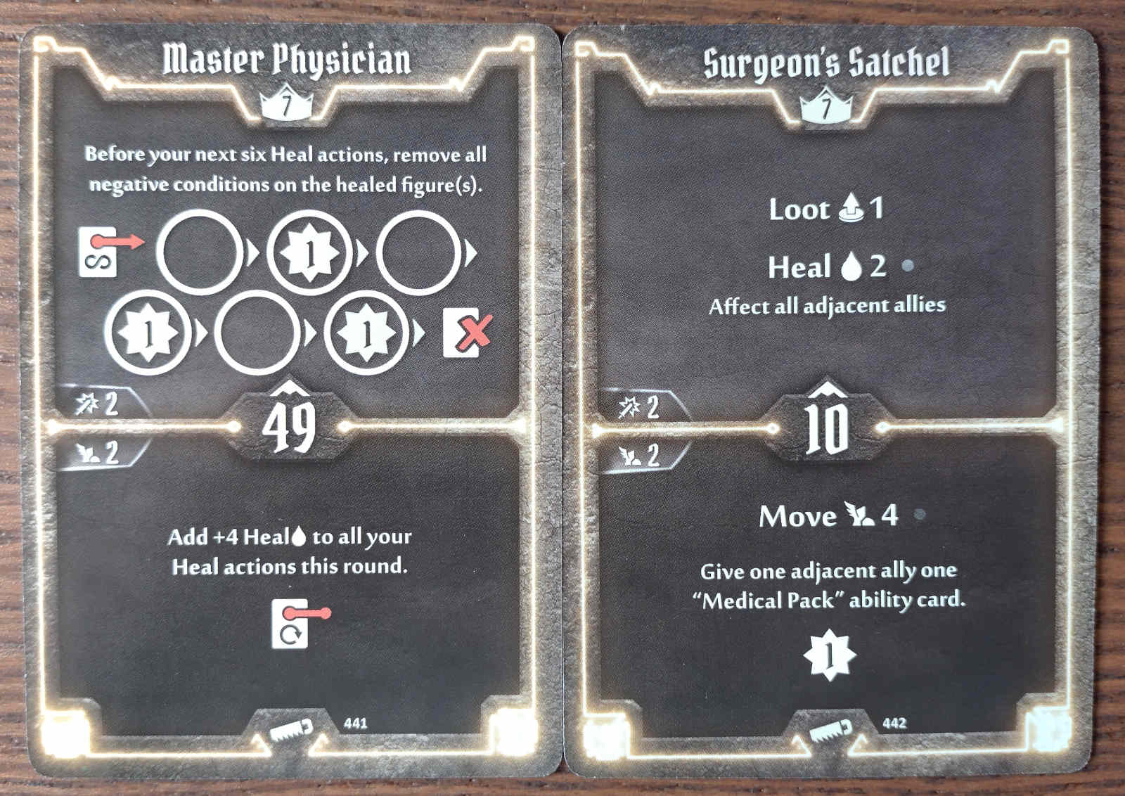 Level 7 Sawbones cards - Master Physician and Surgeon's Satchel
