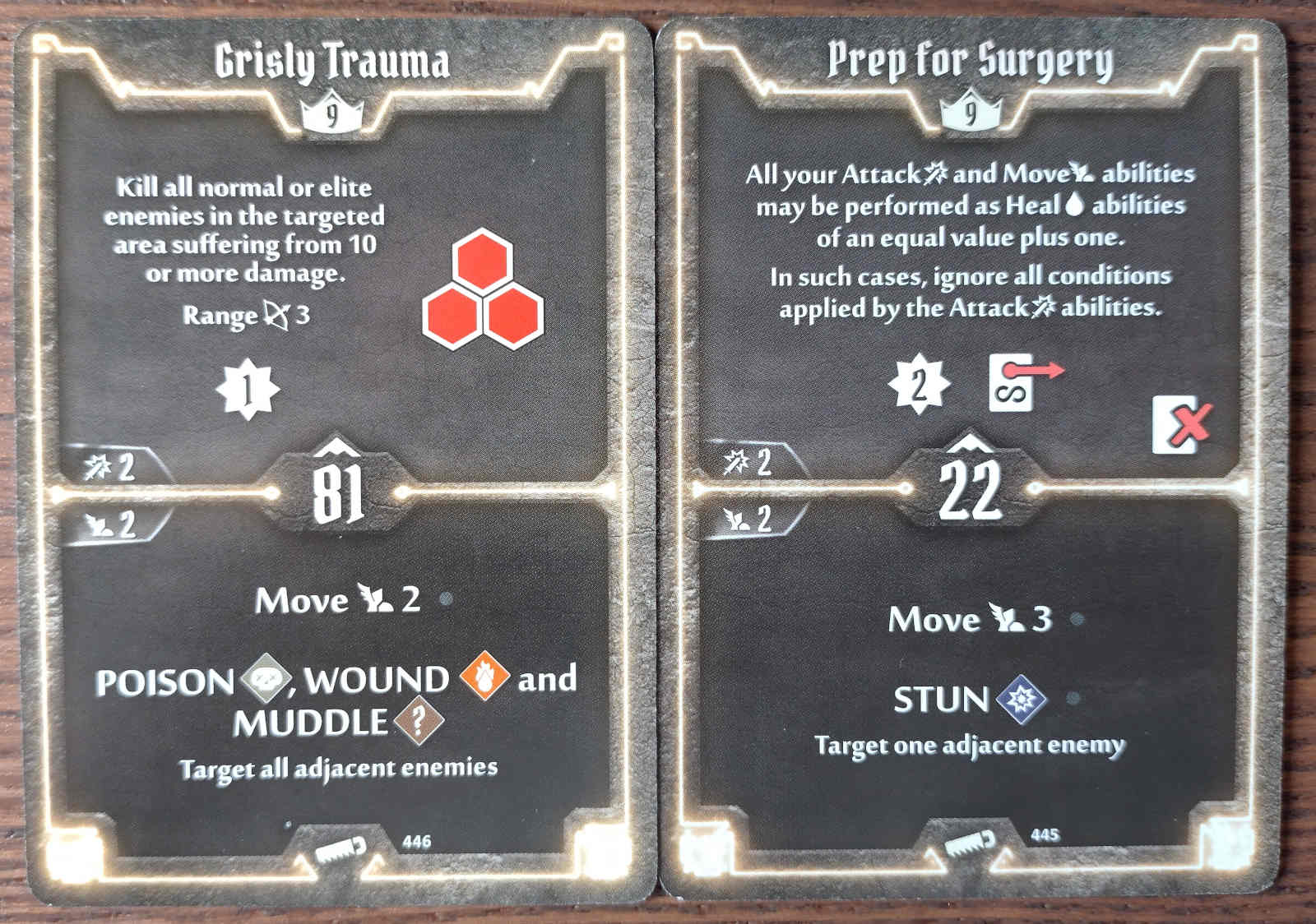 Level 9 Sawbones cards - Grisly Trauma and Prep for Surgery