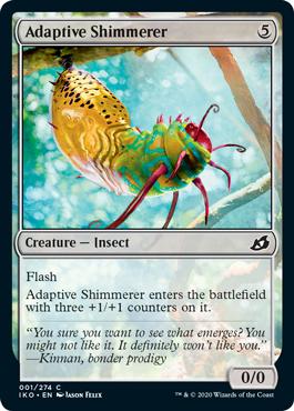 MtG card Adaptive Shimmerer. Image: Wizards of the Coast.