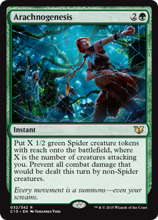 MTG card Arachnogenesis. Image: Wizards of the Coast.
