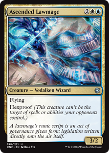 MTG card Ascended Lawmage. Image: Wizards of the Coast.
