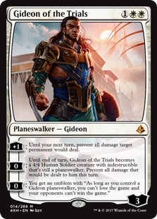 MtG card Gideon of the Trials. Image: Wizards of the Coast.