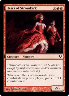 MtG card Heirs of Stromkirk. Image: Wizards of the Coast.