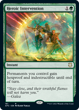 MtG card Heroic Intervention. Image: Wizards of the Coast.