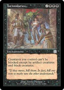 MtG card Intimidation. Image: Wizards of the Coast.