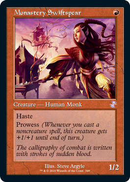 MTG card Monastery Swiftspear. Image: Wizards of the Coast