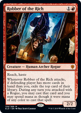 MTG card Robber of the Rich. Image: Wizards of the Coast.