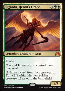 MtG card Sigarda, Heron's Grace. Image: Wizards of the Coast.