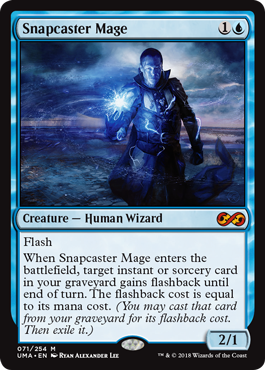 MtG card Snapcaster Mage. Image: Wizards of the Coast.