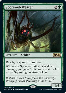MTG card Sporeweb Weaver. Image: Wizards of the Coast.