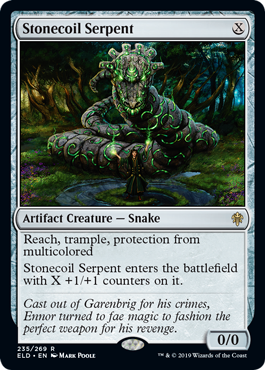 MTG card Stonecoil Serpent. Image: Wizards of the Coast.