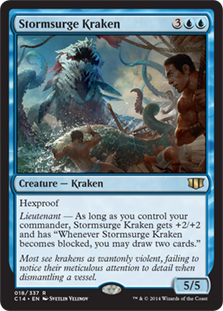 MtG card Stormsurge Kraken. Image: Wizards of the Coast.