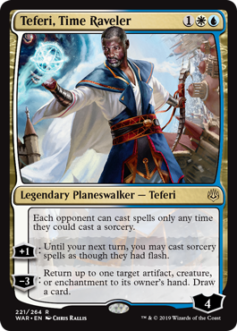MtG card Teferi, Time Raveler. Image: Wizards of the Coast.